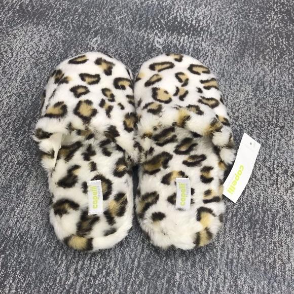 leopard print bedroom slippers